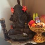 Ook in de Spa heb ik een mini Tempel met Ganesha